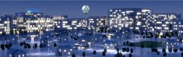 3D Animation Tennet Virtual Vision Stadt Nacht