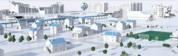 3D Animation Tennet Virtual Vision Stadt Tag
