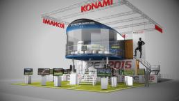 3D Renderings Messestand Konami für Silkroad GmbH