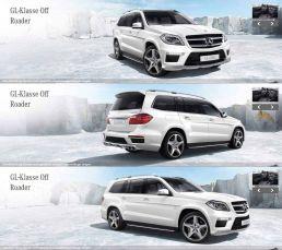 3d visualisierung Mercedes GL Klasse Konfigurator